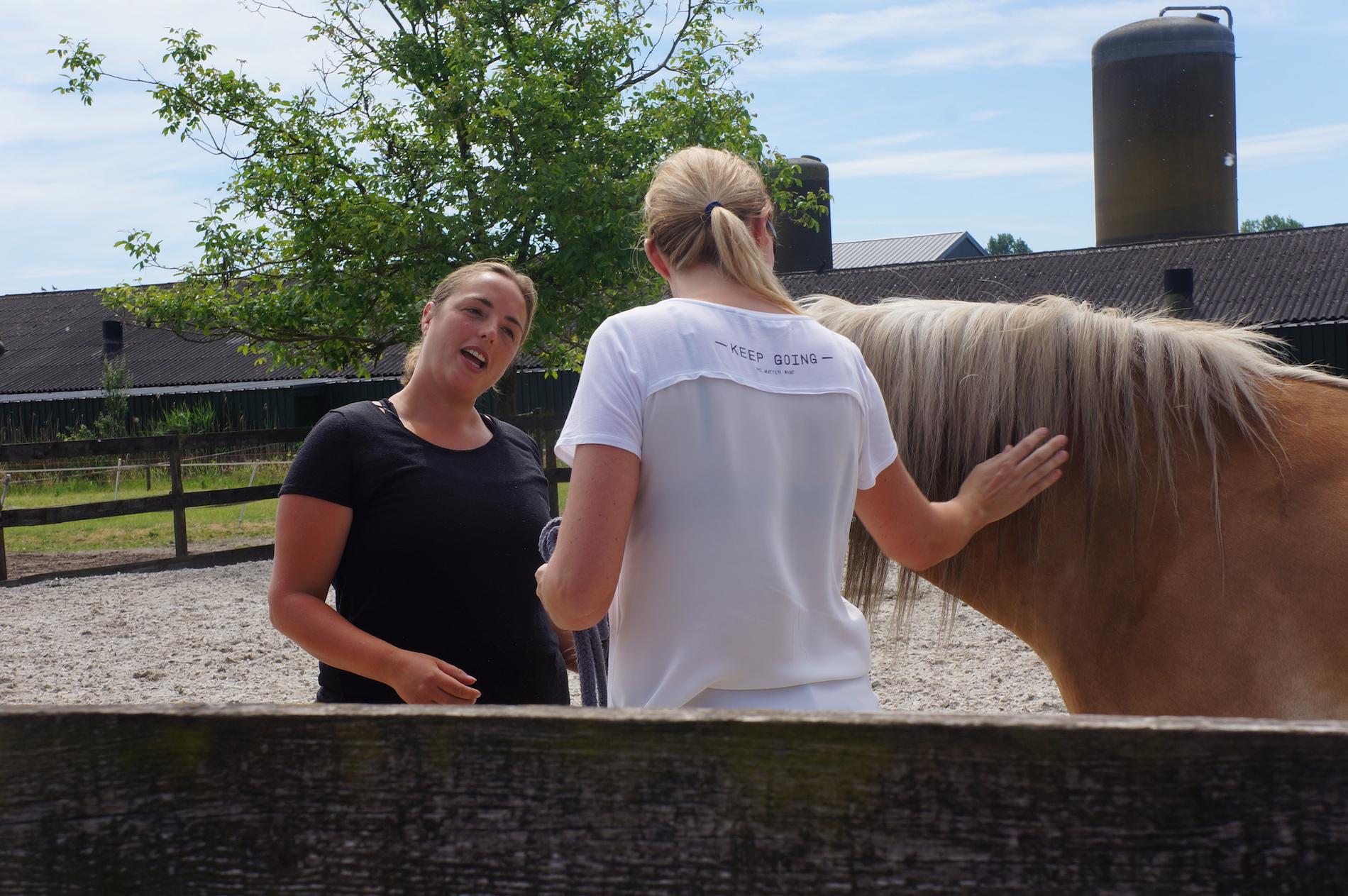 Brenda met paard - Therapie Paarden Veghel